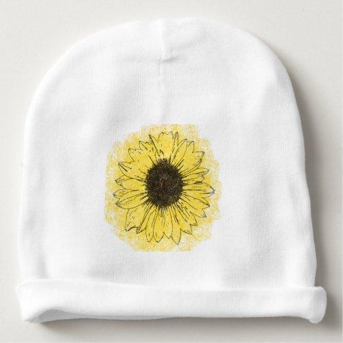 Sunflower Baby beanie