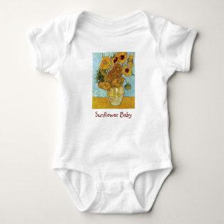 Sunflower Baby (by Van Gogh) Baby Bodysuit