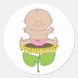 Sunflower Baby Girl Classic Round Sticker