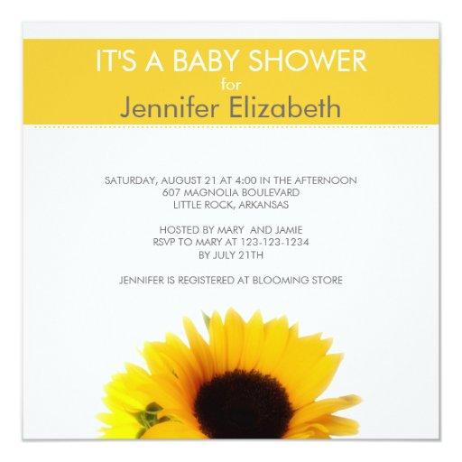 sunflower baby shower card zazzle