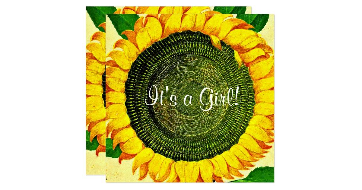 sunflower baby shower invitation zazzle