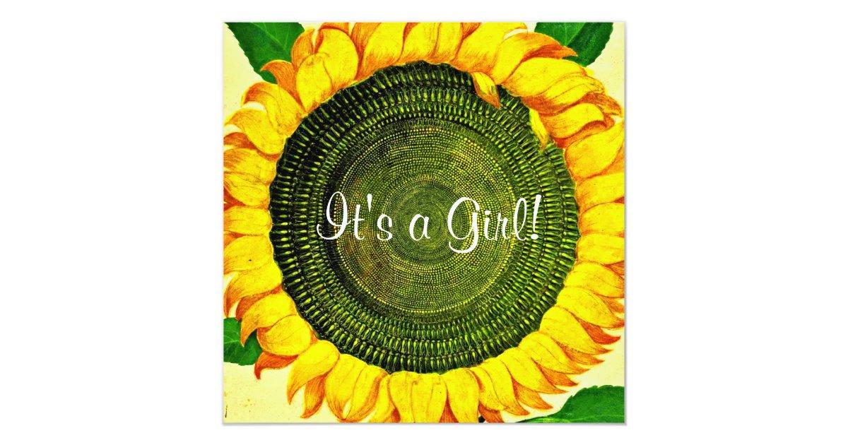 Sunflower Baby Shower Invitation | Zazzle.com