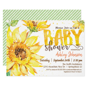 Sunflower Baby Shower Invitations Zazzle