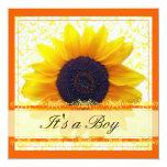 Sunflower Babyshower Invitation