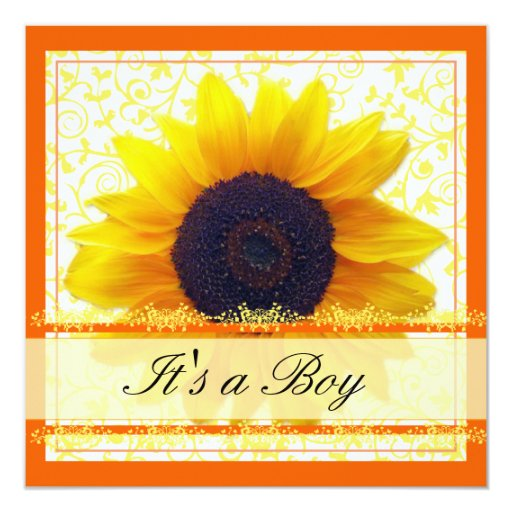 sunflower babyshower invitation zazzle