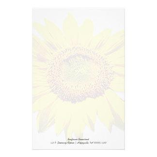 Sunflower Background Blank Custom Note Paper