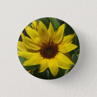 Sunflower Badge Button