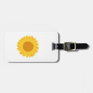 Sunflower. Bag Tag