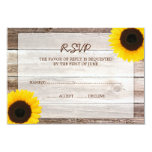 Sunflower Barn Wood Wedding RSVP Response Card