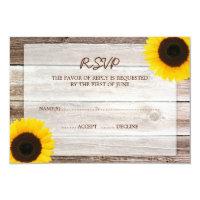 Sunflower Barn Wood Wedding RSVP Response Card (<em>$1.96</em>)