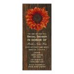Sunflower & Barnwood Rustic Bridal Shower Invite