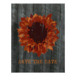 Sunflower & Barnwood Save The Date Announcement