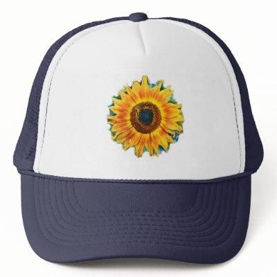 Mesh Baseball Cap. Sunflower Baseball cap Mesh