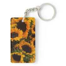 Sunflower Basket Keychain