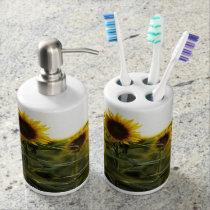 Sunflower Bath Accessories Bathroom Set