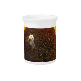 Sunflower Bee Drink Pitcher