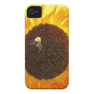 Sunflower Bee iPhone 4 Cover