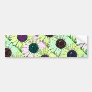 Sunflower Bee Pop Bumper Sticker