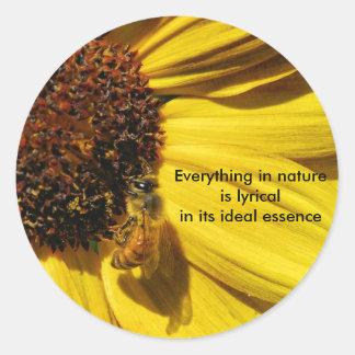 Sunflower Bee Stickers