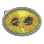 Sunflower Belt Buckle Personalize Sunflower Buckle