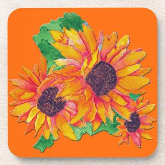 Sunflower Beverage Coaster