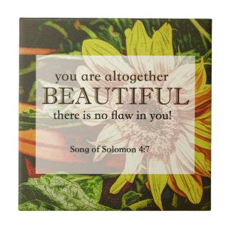 Sunflower & Bible Verse Design Tile