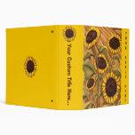 Sunflower Binder Book Custom Sunflower School Bind