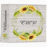 Sunflower Binder - Notebook