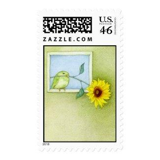 Sunflower Bird Stamp stamp