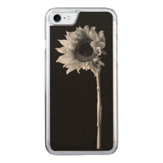 Sunflower - Black and White Photograph Carved iPhone 8/7 Case