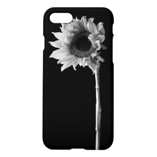 Sunflower - Black and White Photograph iPhone 8/7 Case