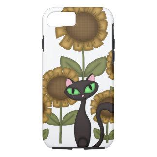 Sunflower Black Cat iPhone 7 Case