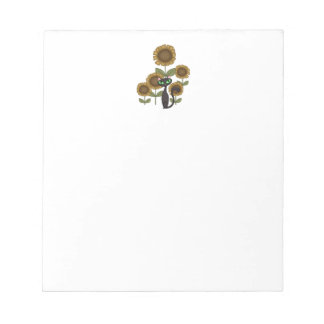 Sunflower Black Cat Memo Note Pad