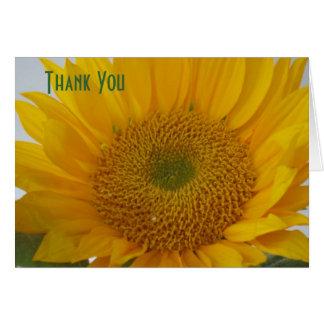 """Sunflower"" Blank ""Thank Yoy"" Notecard"