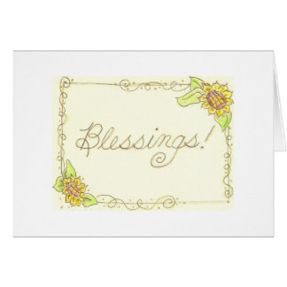 Sunflower Blessings! Greeting Cards
