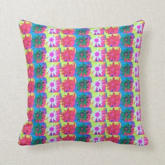 Sunflower Block Pattern Pink, Blue, Green, Yellow
