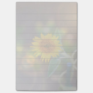 Sunflower bloom 4x6 post it notes pad