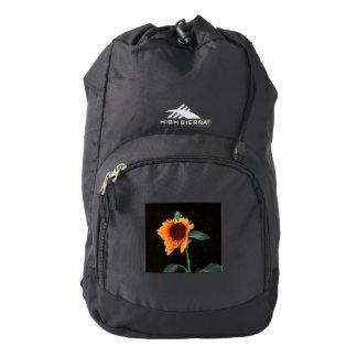 Sunflower bloom backpack
