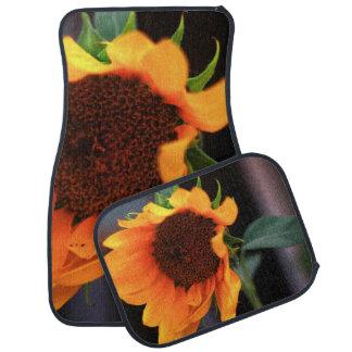 Sunflower bloom floor mat