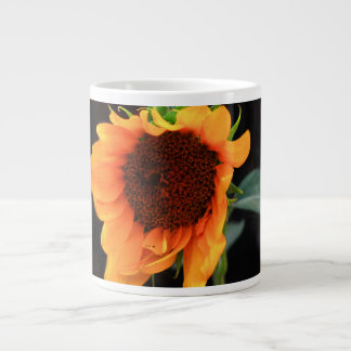 Sunflower bloom giant coffee mug