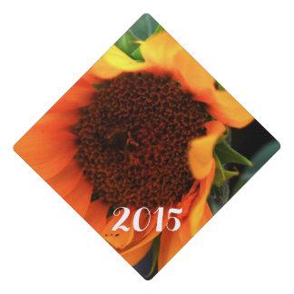 Sunflower bloom graduation cap topper