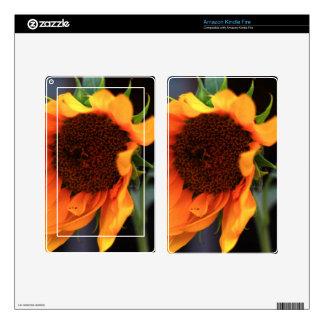 Sunflower bloom kindle fire skins