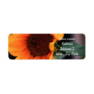 Sunflower bloom label