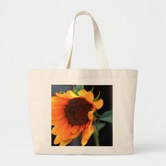 Sunflower bloom large tote bag
