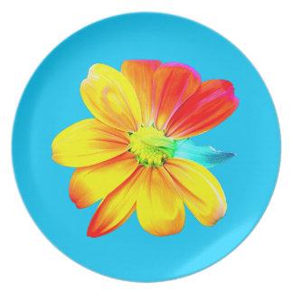 Sunflower Bloom Melamine Plate