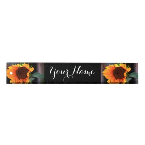 Sunflower blooms personalized ruler