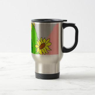 sunflower blooms travel mug