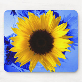 Sunflower Blue Mouse Pad