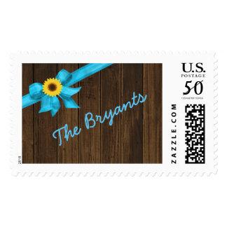 Sunflower Blue Stamp