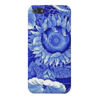 Sunflower Blue White Flower China Pattern Dishes Case For iPhone SE/5/5s